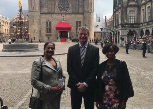 Foto van de delegatie van de Raad van Advies Curaçao die heeft deelgenomen aan het Koninkrijksadviesradenoverleg van 15 -17 september 2019 te Den Haag
