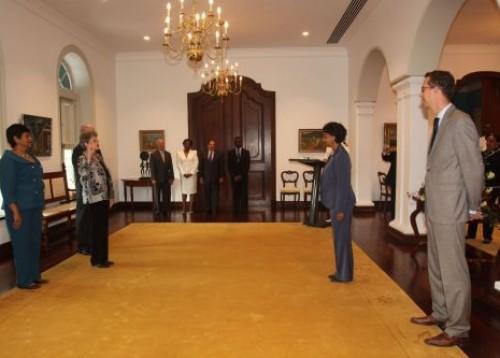 Beëdiging van mevr. mr. drs. M.B.A. Lieuw-van Gorp tot lid van de Raad van Advies d.d. 14 april 2011